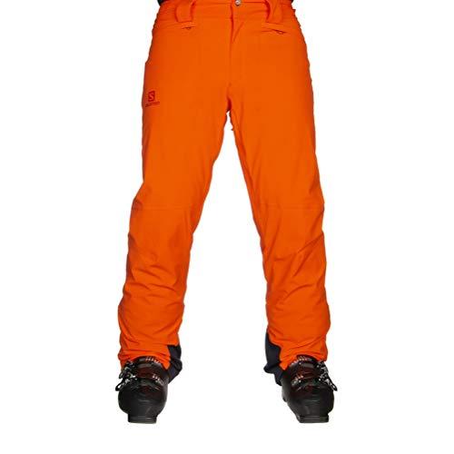 Salomon, Pantaloni da Sci per Uomo, ICEMANIA PANT M, Tessuti Sintetici, Rosso (Cherry Tomato), Taglia L/R, LC1205900