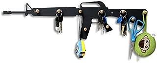 Peg coat rack M16 rifle weapon design 9 hook balls