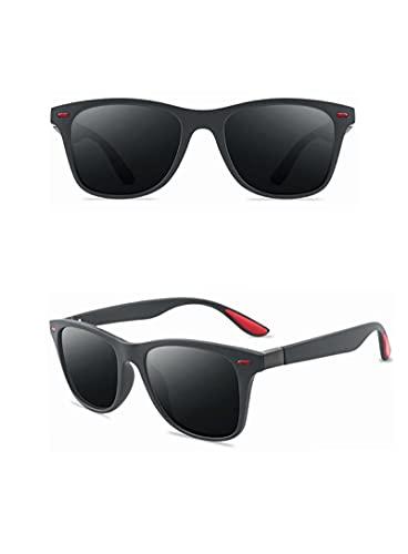 NJJX Gafas De Sol Polarizadas Cuadradas De Moda Para Mujer Gafas Para Hombre Gafas De Sol De Conducción Retro Clásicas C5Sandgray-Grey