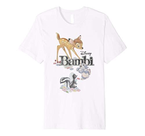 Disney Bambi Classic Group Shot Title Logo Premium T-Shirt