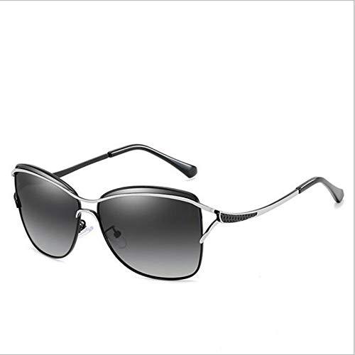 Gafas De Sol Polarizadas para Mujer Gafas De Sol De Montura Grande Gafas De Sol CláSicas De Moda Espejo De ConduccióN,F
