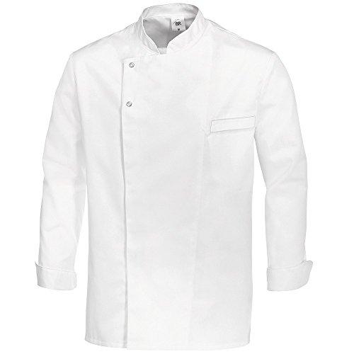 BP 1547-400-21-2XL - Giacca da cucina a maniche lunghe con polsini, 215,00 g/m², colore bianco, 2XL