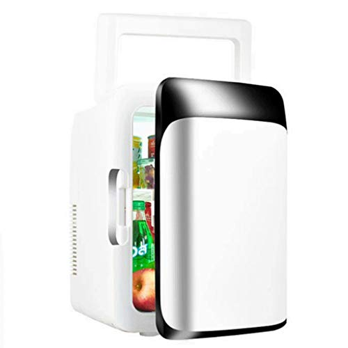 Mini Refrigerador Nevera Mini Nevera 10L Coche Compacto Pequeño Refrigerador Caliente Fría Eléctrico Portátil Nevera Portátil For Los Hogares, Dormitorios, Oficinas, Dormitorios (110V / 12V) para Coch