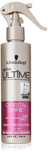 Schwarzkopf Styliste Ultime Crystal Shine Heat Protection Spray, 6.8 Ounce