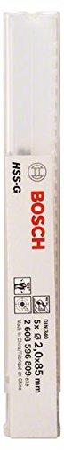 Bosch Professional Metallbohrer HSS-G geschliffen mit langer Arbeitslänge (5 Stück, Ø 2 mm)