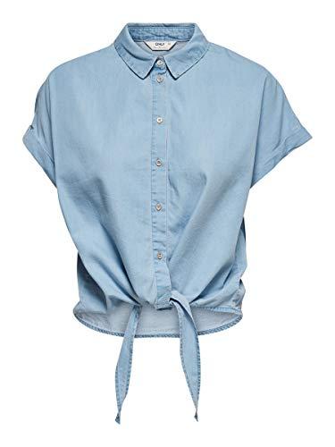 ONLY Female Jeanshemd Knoten 34Light Blue Denim
