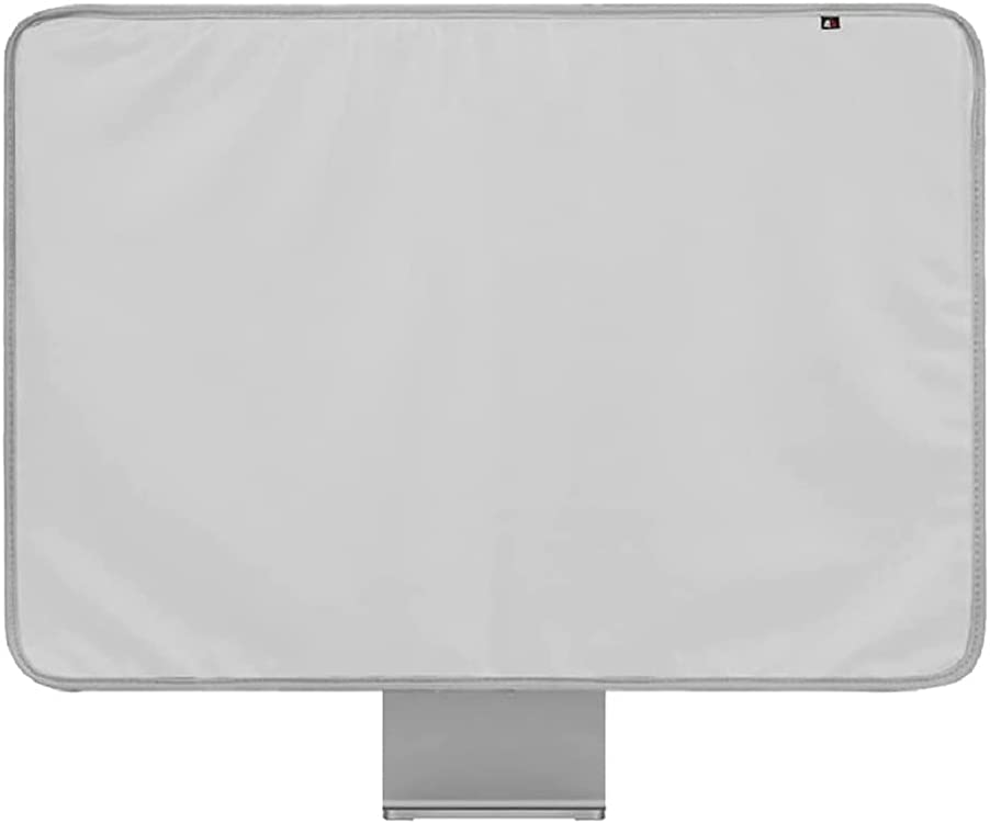 """WESAPPINCcomputer Monitor Dust Cover for iMac 24"""", PU Leather Protective Screen Dust Cover Sleeve with Rear Pocket Compatible with iMac 24 inch (24 inch, Grey)"""