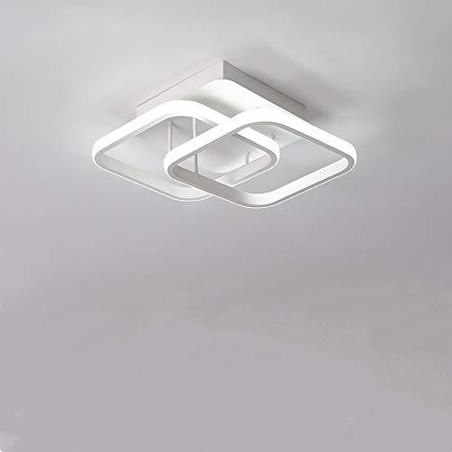 Lámpara de techo LED, 220 V, luces de techo de araña de acrílico blancas cuadradas modernas para la sala de estar del hogar, 22 W, luz blanca fría 6000 K