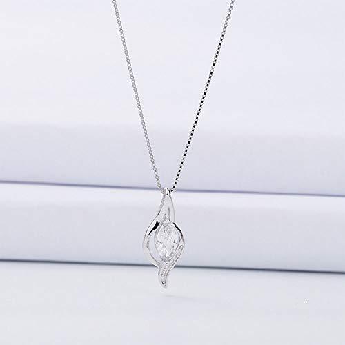 GAOWF Ketting S925 Sterling Zilver Diamant Studded Hanger Vrouwelijke sleutelhanger Eenvoudige Mode Verse Ketting Vrouwelijke