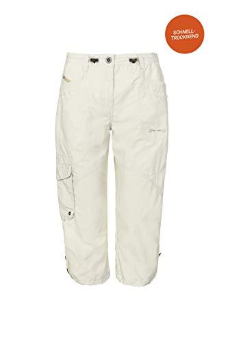 G.I.G.A. DX Damen Caprihose Fenia, 3/4 Cargo Hose für den Sommer, Taillenweite verstellbar, weiß, 46