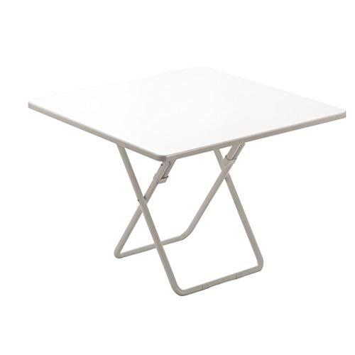 YShop Table Pliante, Bureau Facile à Plier et à Transporter, Table de Barbecue en Plein air Portable carrée, Petite Table à Manger, 60/70 / 80cm (Color : White, Size : 80cm)