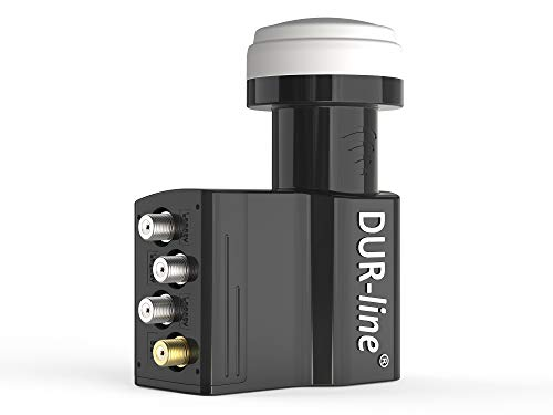 DUR-line UK 104-4+3 Teilnehmer LNB - 4X SCR/Einkabel/Unicable + 3Legacy LNB - digital mit Wetterschutz, Full HD, 4K, 8K