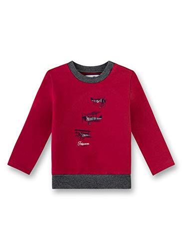 Sanetta Baby-Jungen Sweatshirt, Rot (Rosso 3760), 80 (Herstellergröße: 080)