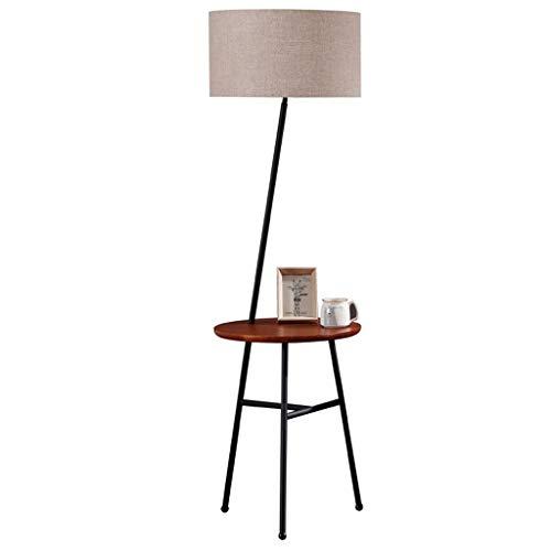 Staande lampen, staande lampen, robuuste vloerlamp, eenvoudige vloerlampenkap van stof, warme sfeer, met tafellamp voor woon- en slaapkamer