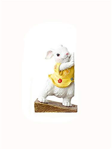 Bunny boekenkend boek door boekstandaard decoratie creatieve huisdecoraties moderne minimalistische Europese pastorale ornamenten kleine meubels gele rok konijntje accessoires woondecoraties voor woonkamer
