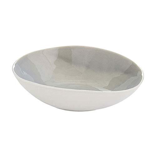 JINKEBIN Bowl. Porcellana Creativa Ciotola di Riso Ciotola casa Irregolare insalatiera Articoli for la tavola in Stile Giapponese Singolo zuppiera Grande Ciotola Ciotola Ciotola Semplice Piatto