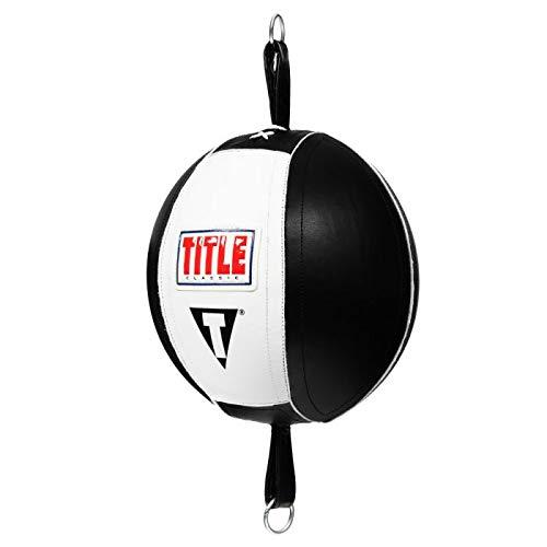 Title Boxing Classic Advanced Double End Bag, Black/White, 5