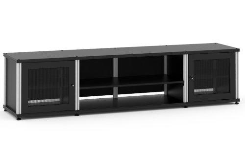 Salamander Designs Synergy Quad Model 248 Cabinet - Black with Aluminum Posts