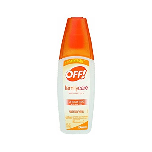OFF! FamilyCare Bug Spray & Mosquito Repellent, Unscented with Aloe-Vera,7% Deet 6 oz. (Pack of 12)