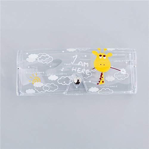 JIANYUXIN Trousse De Toilette Travel Lady Étui À Lunettes Transparent Couverture Protectrice Boîte De Transport Lunettes Accessoires Gris Foncé