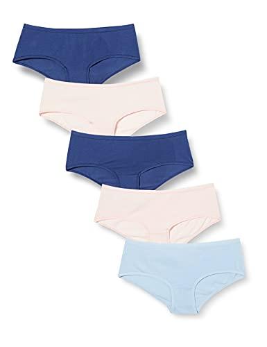 Iris & Lilly BELD006M5 Unterhosen, 5er-Pack, Sky Blue/Pale Pink/Blue, X-Large