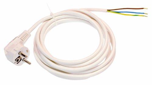 as - Schwabe 70800 PVC-Anschlußkabel, 10m H05VV-F 3G1,0, weiß, IP20 Innenbereich