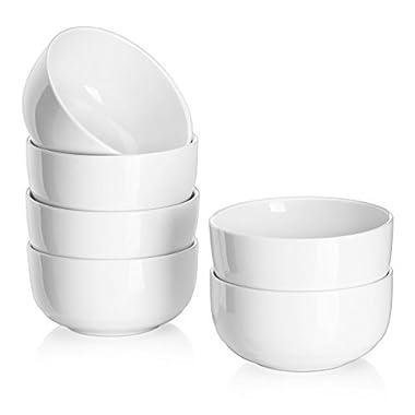 DOWAN 10-Ounce Porcelain Bowl Set - 6 Packs,White