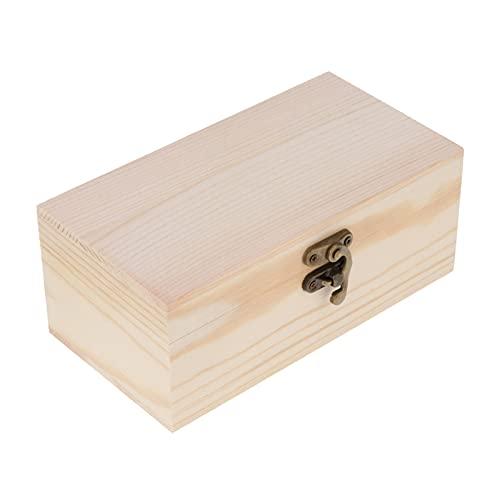 JIEERCUN Caja de joyería de Madera Protección de Joyas Cajas de Embalaje de Regalo Cajas de Monedas a Mano Caja de Embalaje de Regalo Cajas de joyería (Color : M)