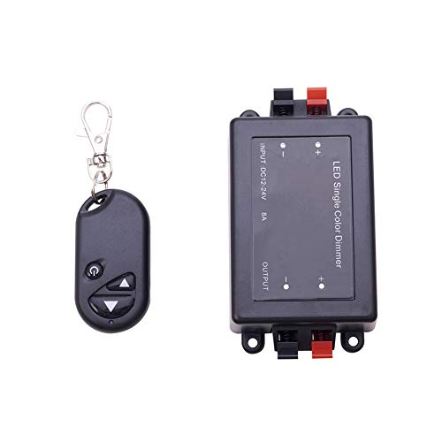 Othmro 1 unids LED solo colorRF controlador remoto 3 clave DC 12V-24V inalámbrico táctil LED regulador regulador