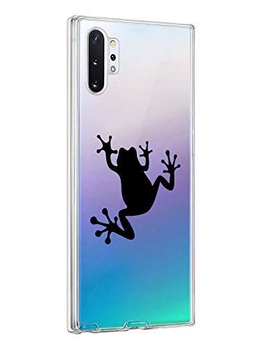 Oihxse Shell ersatz für Galaxy Note 10 Hülle Personalisiert Silikon Handyhülle Kratzfeste Antikratz Schutzhülle,Gehärtetem Glas Rückseite mit Soft Rahmen Tier Süß Case für Galaxy Note 10 (3G)
