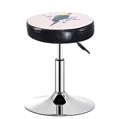 KY Barhocker Barstuhl Hocker Aufzug Rotary Schönheitssalon Massage-Stuhl Farbdruck Beiläufige Hohe Metall Barhocker (Color : A)