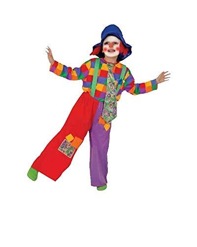 Dress Up America- Disfraz de Payaso de niño de Colores 1, 3-4 años (69 cm Cintura, 95 cm Altura) (584-T4)