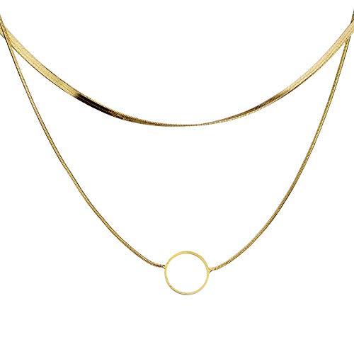 XIANGDONG Halsketten, Anhänger, Anhänger Halsketten, geschichtete Halsketten, Bekleidungszubehör, Damenaccessoires, Mädchenaccessoires