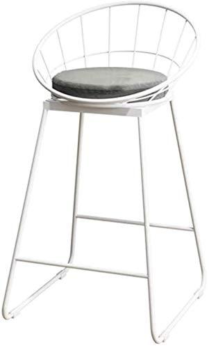 MotBach Silla de salón, Taburete de Vestir con Respaldo Velvet Bar Taburete Metal Estructura Silla tapizada Silla de recepción Blanco Gris, para Restaurante, Cocina (Size : A)