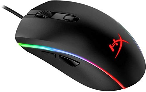 HyperX Pulsefire Surge - RGB Wired Optical Gaming Mouse, Pixart 3389 Sensor up to 16000 DPI, Ergonomic, 6 Programmable Buttons, Compatible with Windows 10/8.1/8/7 - Black (Renewed)
