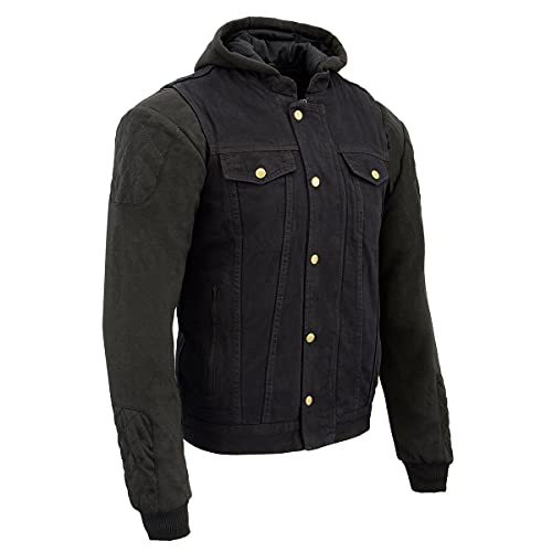 Milwaukee Performance MDM3020 Men's Black Denim 3 in 1 Club Style Vest with Removable Hoodie - 3X-Large