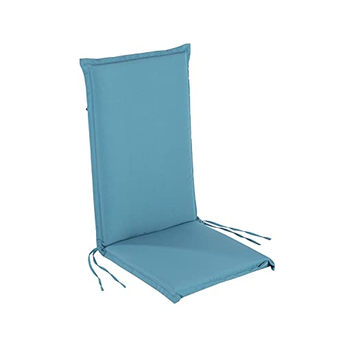 Edenjardi Cojín para sillón de jardín reclinable estándar Turquesa, Tamaño 109x45x4 cm, Desenfundable
