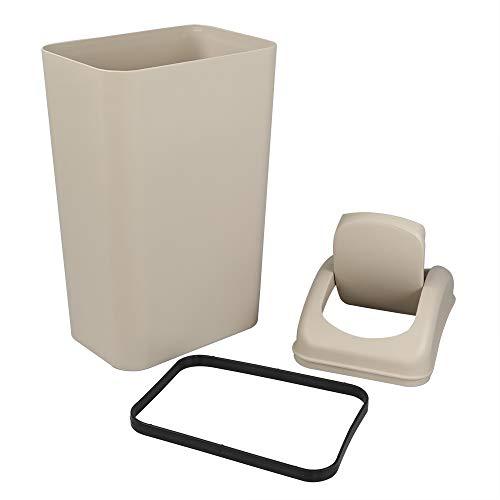 Tstorage 10 L Cubo de Basura Basurero Papelera con Tapa Basculante Plástico, 1 Paquete