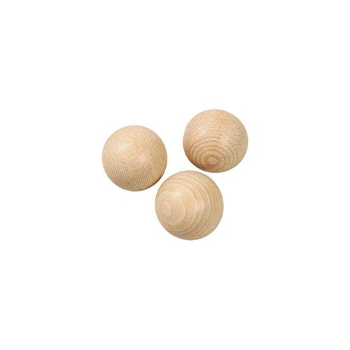 CREATIV DISCOUNT ® Holzkugel ohne Bohrung, Größe 35mm, 5 Stück