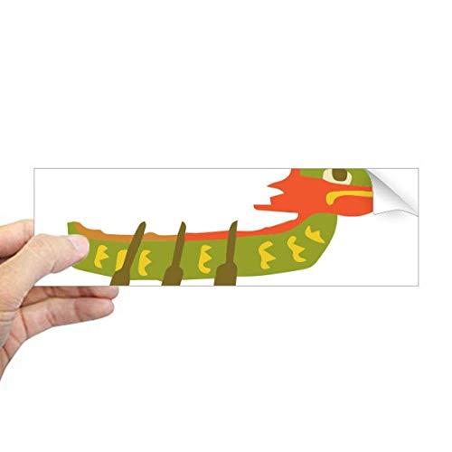 DIYthinker China Dragon Boat Race Travel Taiwan Rechthoek Bumper Sticker Notebook Window Decal