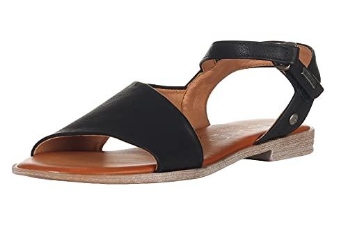 Mustang Damen 1388-801 Sandale, schwarz, 38 EU