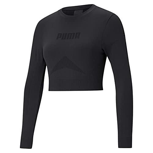 PUMA Damen Evostripe Evoknit Longsleeve T T-shirt, Black, XL