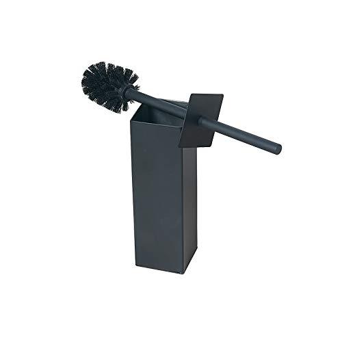 Bgl 304 - Supporto per scopino da bagno e hotel, in acciaio INOX, colore: nero