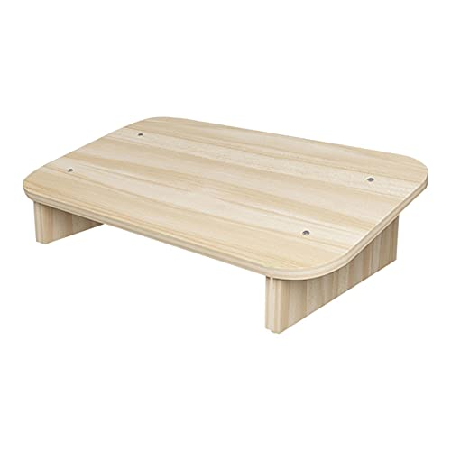 AUTUUCKEE Taburete de madera, taburete de cama portátil para camas altas, escalera antideslizante pequeña para cocina y baño, reposapiés para debajo del escritorio para adultos y niños