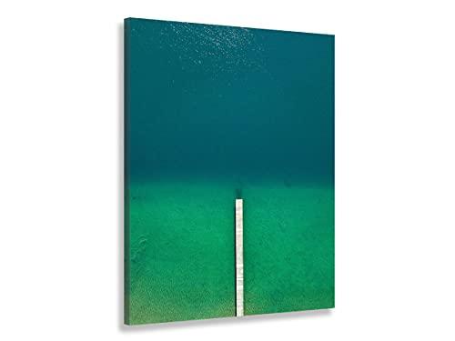 Hexoa - Cuadro de playa tropicales en mi corazón – Made in Francia – Cuadro cristal acrílico – 60 x 100