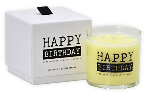 Lulu Candles | Buttercream Vanilla Cupcake | Happy Birthday | Luxury Scented...