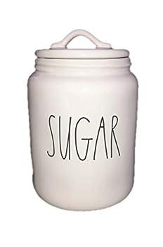 Rae Dunn XL Sugar Canister Ceramic LL long letter