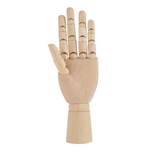 Akozon Holz Hand Skulptur Schaufensterpuppe Holz Frauen Künstler Modell Gelenkig Artikuliert Mannequin exakt gegliederten Fingern Flexiblen Gelenken für Zeichnung Ausstellung