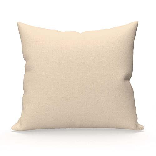 Soleil d'ocre Funda de Almohada Lisa de algodón 57 Hilos 65x65 cm Color Crudo