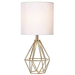 Modern Hollow Out Base Living Room Bedroom Small Table Lamp
